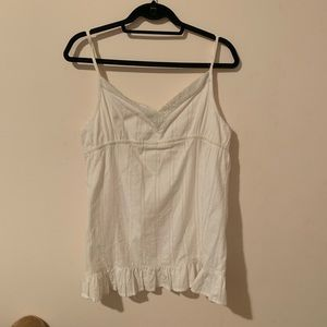 Tops - White Beaded camisole